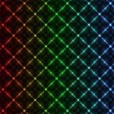 Abstrakter Neonrasterfeldhintergrund Stockfotografie