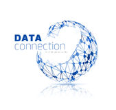 Abstrakter Network Connection Hintergrund Lizenzfreies Stockbild