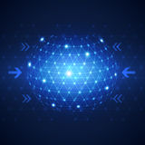Abstrakter Netztechnik-Konzepthintergrund des globalen Geschäfts Stockfotografie