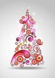 Abstrakter Neujahr Baum stock abbildung