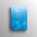abstrakter niedriger blauer heller Polyvektor der Technologie 3D lizenzfreie abbildung