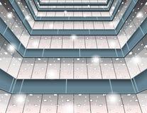 Abstrakter Oberflächenhintergrund in der Perspektive Lizenzfreie Stockbilder