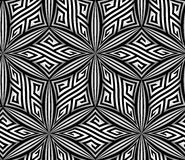 Abstrakter OPart zigzag vector seamless pattern Stockfotografie