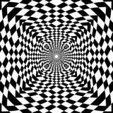 Abstrakter OPkunst Schwarzweiss--geometrict Musterhintergrund lizenzfreie abbildung