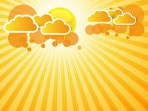 Abstrakter orange Hintergrund stock abbildung