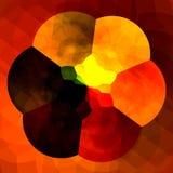 Abstrakter orange Hintergrund für Design-Grafiken Bunte Fractals Kreative Blumen-Digital-Grafik Kaleidoskopisches künstlerisches Lizenzfreies Stockbild