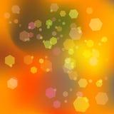 Abstrakter orange Hintergrund mit bokeh raster Lizenzfreie Stockfotografie