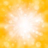 Abstrakter orange Hintergrund mit dem Blinken Stockfotografie