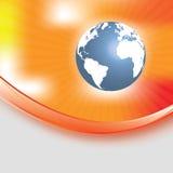 Abstrakter orange Hintergrund mit Kugel lizenzfreie abbildung