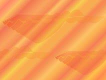 Abstrakter orange Hintergrund mit Rot und Gelbstreiks und -verzierungen Stockbild