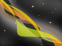 Abstrakter orange Ton von farbigen Streifen mit sternenklarer Nacht Lizenzfreie Abbildung