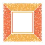 Abstrakter orange und rosa Rahmen vektor abbildung