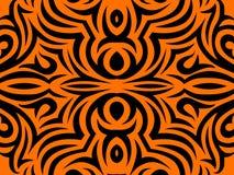 Abstrakter orange und schwarzer Hintergrund Lizenzfreie Stockfotografie