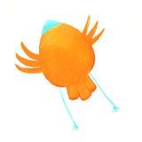 Abstrakter orange Vogel Lizenzfreies Stockbild