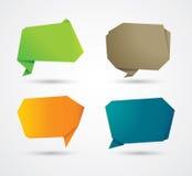 Abstrakter Origamisprache-Blasenhintergrund Lizenzfreie Stockfotos
