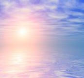 Abstrakter Ozeansonnenaufganghintergrund Lizenzfreies Stockbild