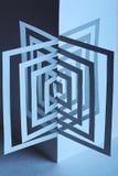 abstrakter Papieraufbau 3d Stockfotos
