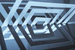 abstrakter Papieraufbau 3d Stockfoto
