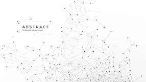 Abstrakter Partikelhintergrund Verwirrungsnetz Atom- und molekulares Muster Knoten angeschlossen im Netz Vektorillustration an lo vektor abbildung