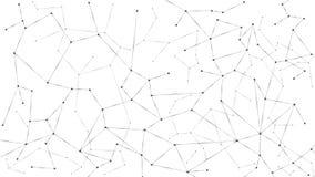 Abstrakter Partikelhintergrund Verwirrungsnetz Knoten angeschlossen im Netz Gro?e Daten der futuristischen Plexusreihe Vektorabbi lizenzfreie abbildung