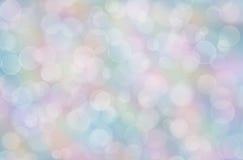 Abstrakter Pastellregenbogenhintergrund mit boke Stockfotografie