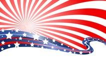 Abstrakter patriotischer Hintergrund Stockfotografie