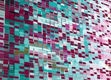 Abstrakter Perspektive Mozaic Hintergrund Stockfoto