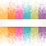 Abstrakter Pixelhintergrund mit weißer Fahne Stockfotos