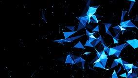Abstrakter Plexushintergrund High-Techer Digital-Hintergrund vektor abbildung