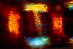 Abstrakter Polarisierungsmikrograph von Meeresalgen von Niantic-Bucht, Stockbilder