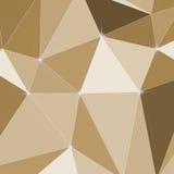 Abstrakter polygonaler, brauner Hintergrund für Design stock abbildung