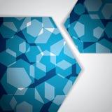 Abstrakter polygonaler Geschäftsblauhintergrund Lizenzfreie Stockbilder