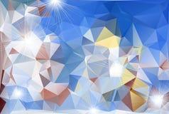 Abstrakter polygonaler Hintergrund Stockfotos