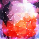 Abstrakter polygonaler Hintergrund Stockbilder