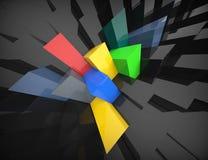 Abstrakter polygonaler Hintergrund Stockfotografie