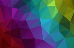 Abstrakter polygonaler Hintergrund des Vektors Stockfotografie