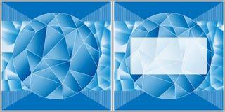 Abstrakter polygonaler Hintergrund mit Feld für Text Lizenzfreies Stockbild