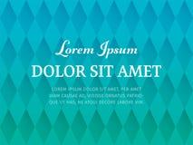 Abstrakter polygonaler Musterhintergrund von Rauten mit Knickente und cyan-blauen Farben Horizontaler nahtloser geometrischer Hin lizenzfreie abbildung