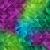 Abstrakter polygonaler nahtloser Hintergrundsatz Stockbild