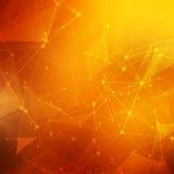 Abstrakter polygonaler niedriger Polyhintergrund des orange Rotes