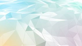 Abstrakter polygonaler Raum niedrig Poly mit Verbindungsoberfläche lizenzfreie abbildung