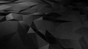 Abstrakter polygonaler Raum niedrig Poly mit Verbindungsoberfläche stock abbildung