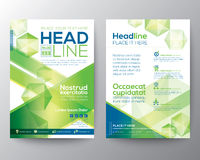 Abstrakter Polygondesignvektor-Schablonenplan für Zeitschriftenbroschürenflieger Stockfoto