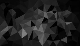 Abstrakter Polygonschwarzweiss-hintergrund Lizenzfreie Stockfotografie