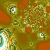 Abstrakter psychedelischer Augenhintergrund Eigenartige Muster Modernes Artkunstkonzept Grüne künstlerische Illustration schuf Te Lizenzfreie Stockfotografie
