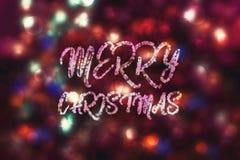 Abstrakter purpurroter bokeh Weihnachtshintergrund Modernes einfaches flaches Zeichen Modisches Dekorationssymbol für Website Lizenzfreie Stockfotos