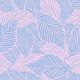 Abstrakter purpurroter Dschungeldruck Exotische Anlage Tropisches Muster, vektor abbildung