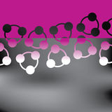 Abstrakter purpurroter Elementhintergrund lizenzfreie abbildung