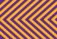 Abstrakter purpurroter gelber Pfeilmuster-Hintergrundvektor Stockbilder