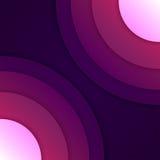 Abstrakter purpurroter Hintergrund der runden Formen Lizenzfreie Stockfotografie